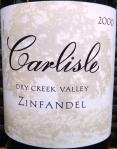 Carlisle Dry Creek Valley Zinfandel 2000