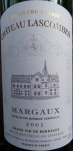 Chateau Lascombes Margaux 2001