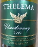 Thelema Chardonnay South Africa 2007