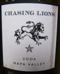Chasing Lions Napa Valley 2006