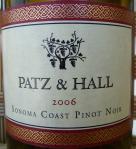 Patz & Hall Pinot Noir Sonoma Coast 2006
