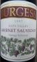 Burgess Cellars Cabernet Sauvignon Napa Valley, Library Release 1997