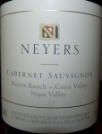 P1040749 Neyers Cabernet Sauvignon Neyers Ranch – Conn Valley 2003