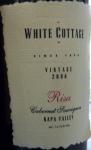 White Cottage Risa Cabernet Sauvignon Napa Valley 2006