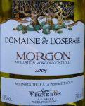 P1050034 Domaine de L'Oceraie Morgon AOC2009