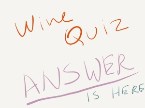 wine quiz answer