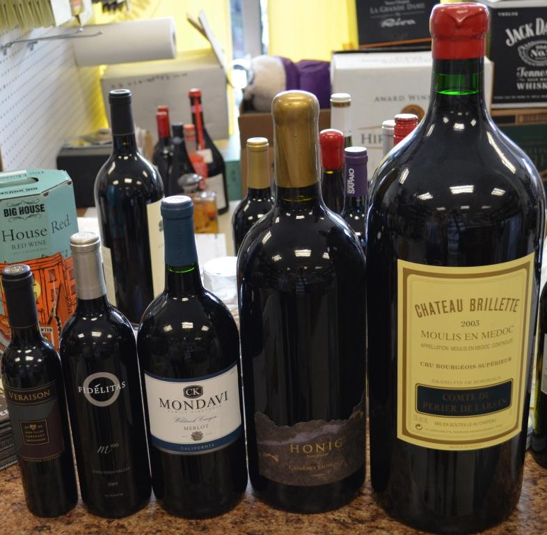 Big bottle of wine vs regular