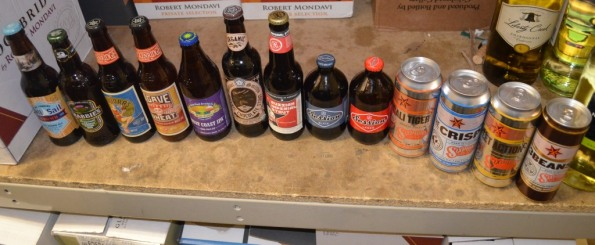 Our full ine of beers for tasting