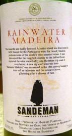 Madeira Sandeman Rainwater