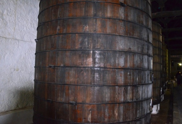 Ruby and White Port age in this huge barrels. One barrel holds 80,000 liters (about 20,000 gallons)