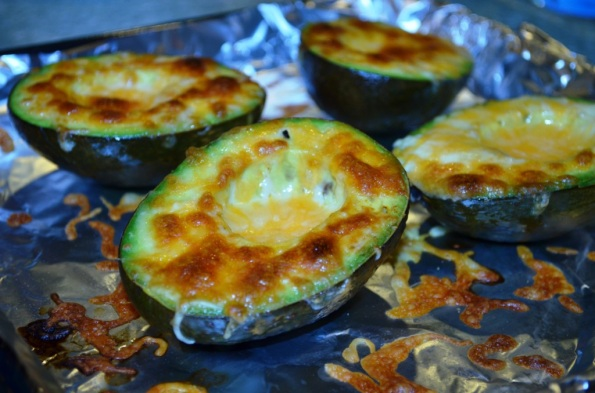 Grilled Avocado with melted cheese