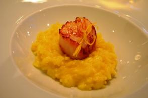 Scallop with risotto