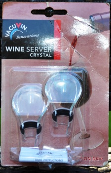 2. VacuVin Wine Server Crystal - my favorite, most elegant