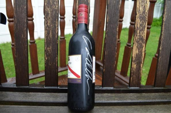 d'Arenberg bottle, signed by Chester Osborn