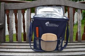 """Picnic wine carrier, with the view of extra """"tools"""""""