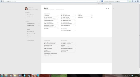 feedly index view