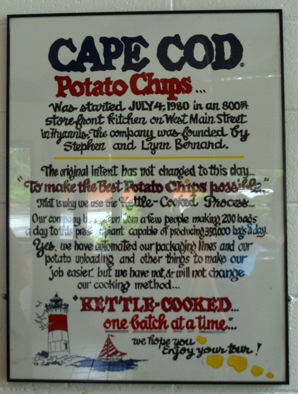 cape code potato chip info