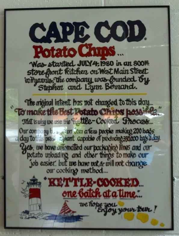 cape code potato chip info