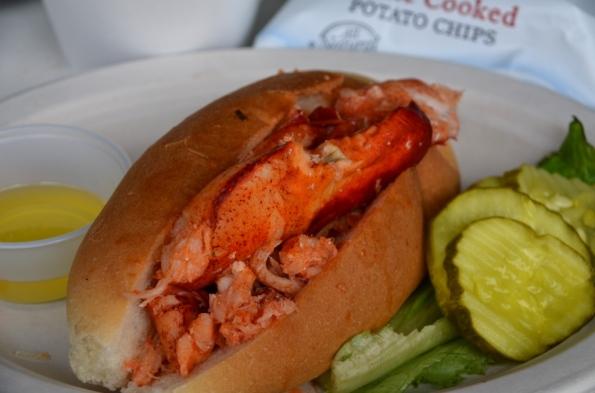 Warm lobster roll at JT's