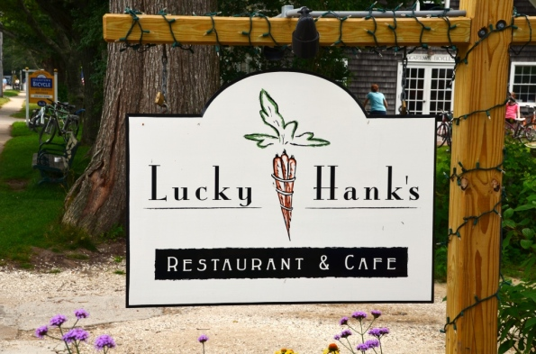 Lucky Hank's in Edgartown. Don't know about Hank, but we enjoyed the food