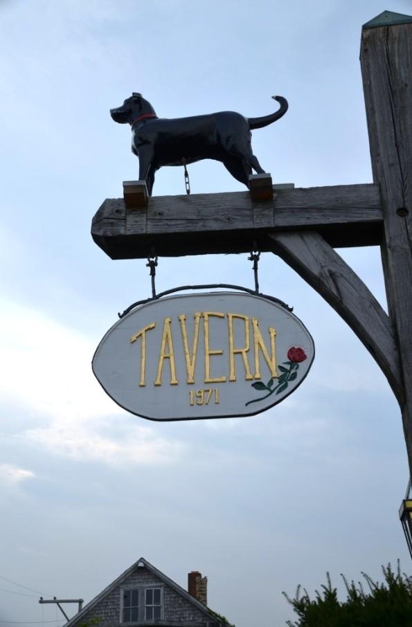 Black Dog Tavern in Vineyard Heaven. Unfortunately, only fish and chips were tasty...