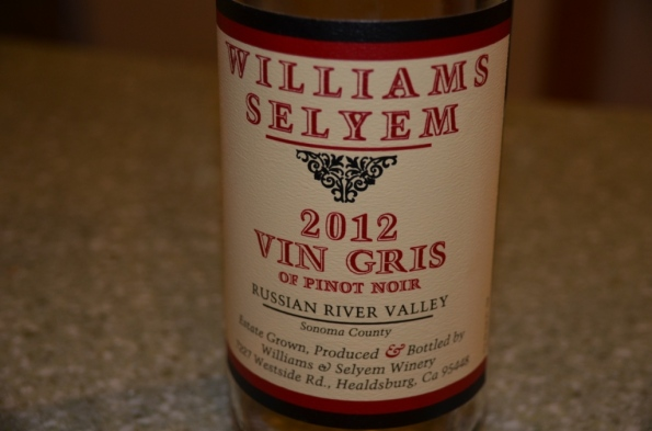 Williams Selyem Vin Gris of Pinot Noir