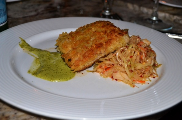 Potato Chip Crusted Mahi Mahi