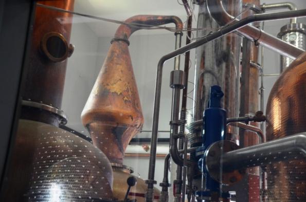 Distillation column at Tuthilltown