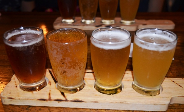 Beer flight at Bar Q