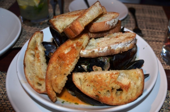 Beer Braised Mussles