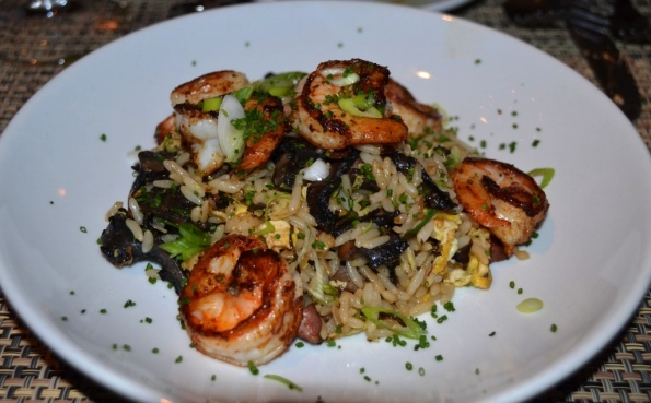 Blackened Shrimp with Fried Rice