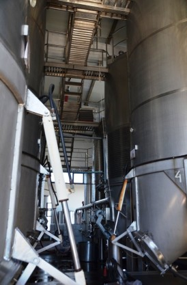 Fermentation tanks at Quevedo