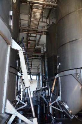 Fermentation tanks at Quevedo