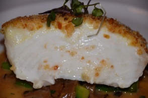 Potato and Onion Encrusted Halibut