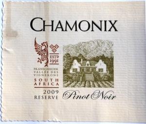 Chamonix Pinot Noir