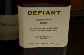 Defiant Single Malt, North Carolina