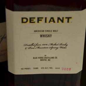 Defiant Single Malt, North Carolina