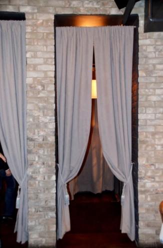through the drapes