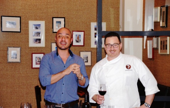 Sommelier Jose Valverde and Chef Michael Lucente