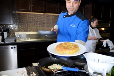 Chef Fuentes with Tortilla Española