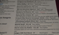 wine list at Wine Steals