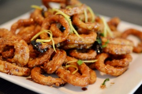 Calamari with Balsamic Reduction