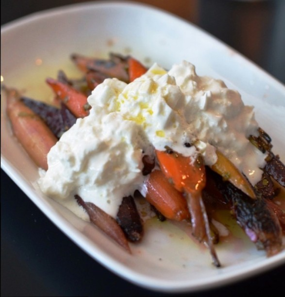 Charred Heirloom Carrots