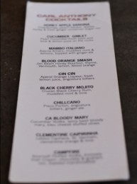 Cocktail List - Carl Anthony Trattoria