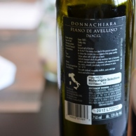 Donnachiara Finao di Avellino Back Label