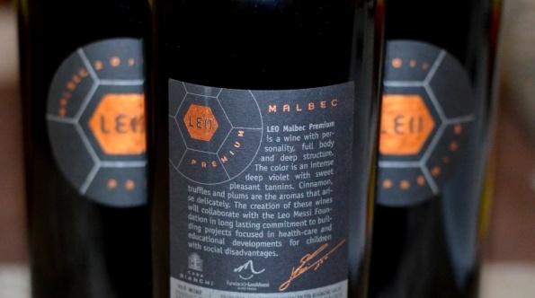 Leo Malbec Back Label