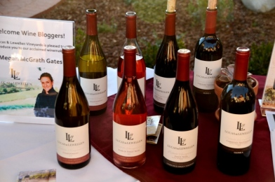 Lucas and Lewellen wine lineup