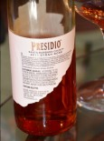 Presidio Rose back label