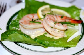Shrimp with a Champagne Beurre Blanc
