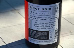 Wonderwall Pinot Noir Back label